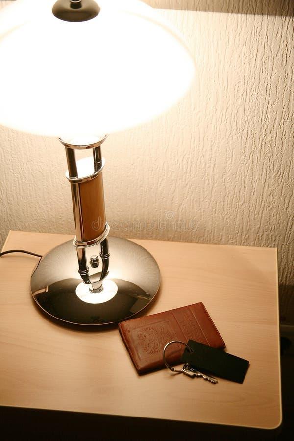 Kopfende-Tabelle im Hotel stockbilder