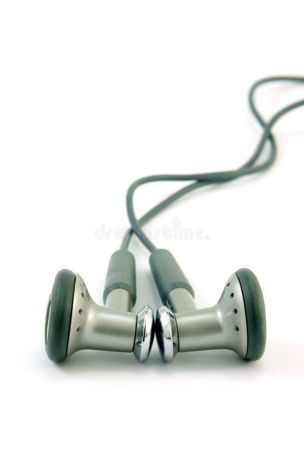 Kopfhörer getrennt auf Weiß stockfotos