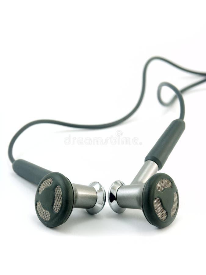 Kopfhörer getrennt auf Weiß lizenzfreies stockfoto