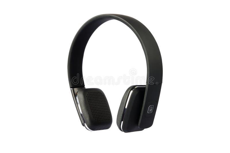 Kopfhörer mit Mic lokalisiert auf Weiß lizenzfreie stockfotografie