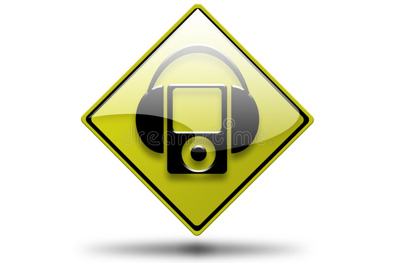 Kopfhörer MP3 stock abbildung