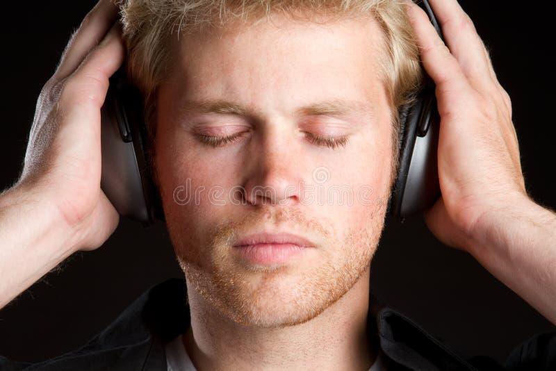 Kopfhörer-Musik-Junge stockfotos