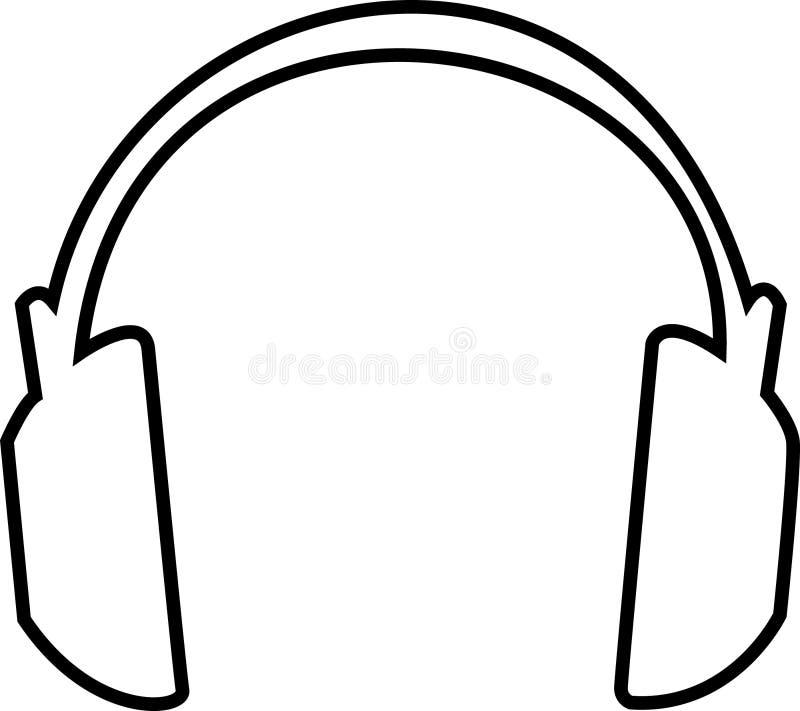 Kopfhörer-umreiß vektor abbildung. Illustration von produzent - 699628