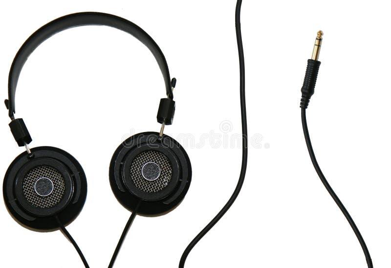 Kopfhörer Und Kabel Kostenlose Stockfotografie