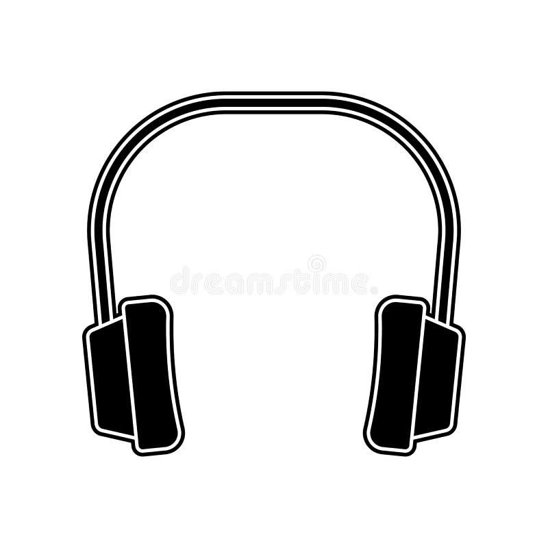 Kopfhörer von der Geräuschikone Element des Hauptreparaturwerkzeugs für bewegliches Konzept und Netz Appsikone Glyph, flache Ikon lizenzfreie abbildung