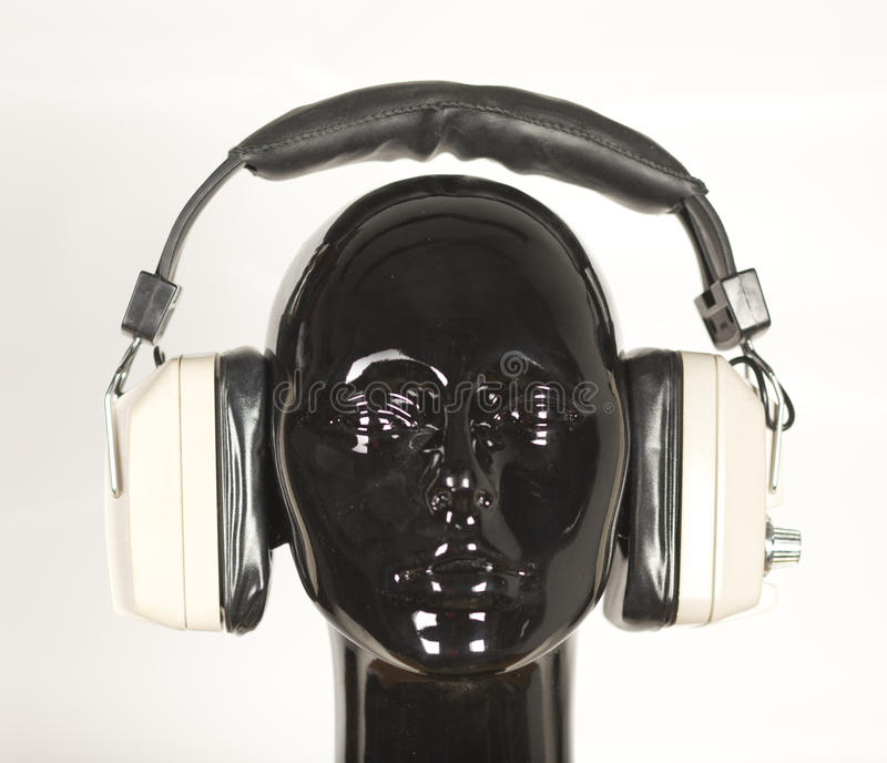 Kopfhörermannequin stockfoto