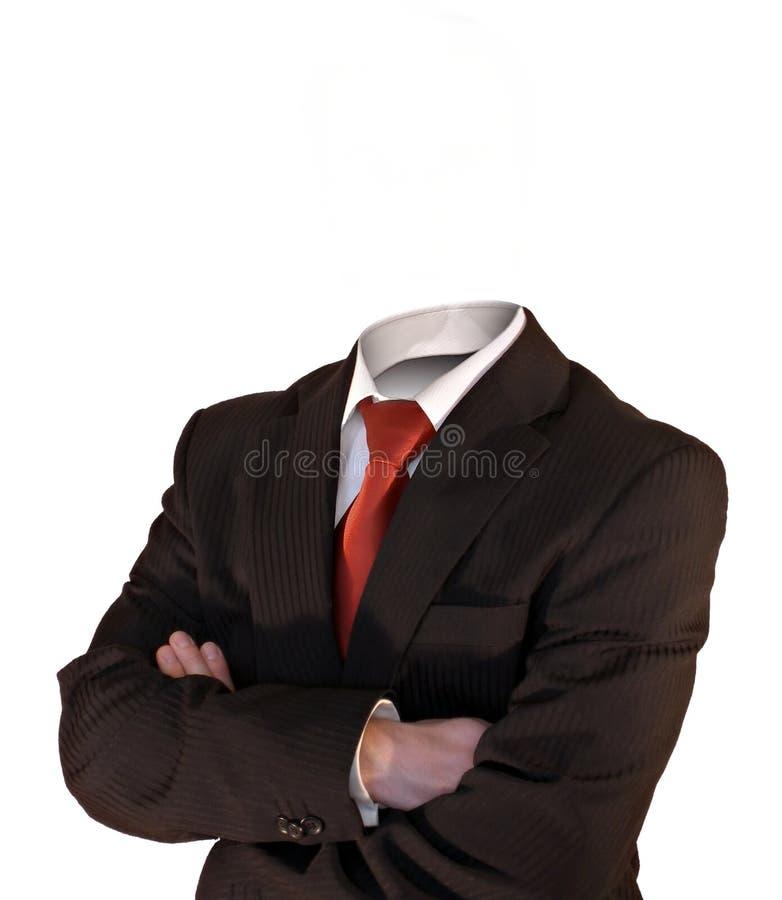 Kopfloser Geschäftsmann stockbild