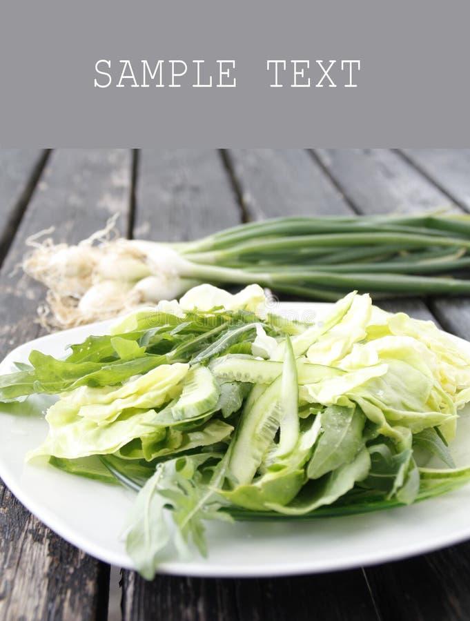 Kopfsalat und Arugula lizenzfreie stockbilder