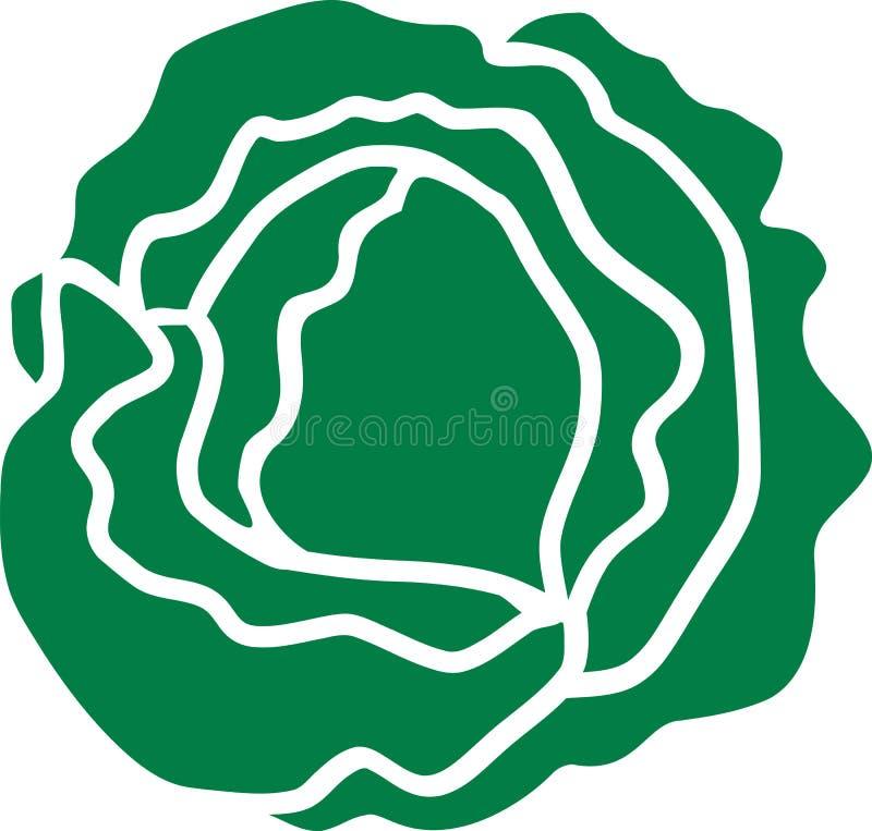 Kopfsalatsalatgrün lizenzfreie abbildung
