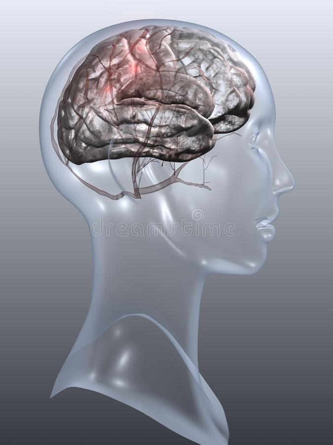 Kopfschmerzen lizenzfreie abbildung