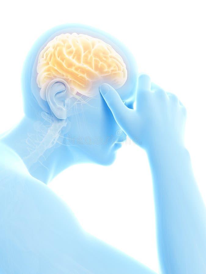 Kopfschmerzen/Koller stock abbildung