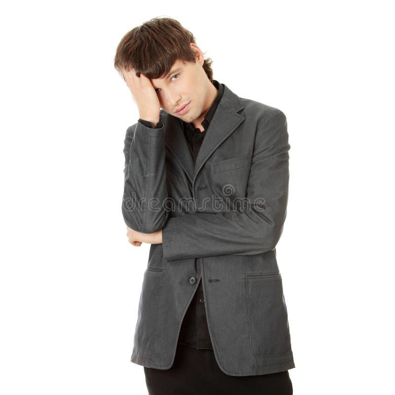 Kopfschmerzen oder Problem lizenzfreies stockfoto