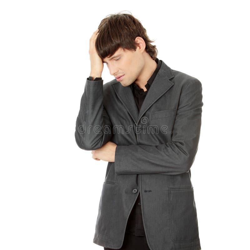 Kopfschmerzen oder Problem lizenzfreies stockbild