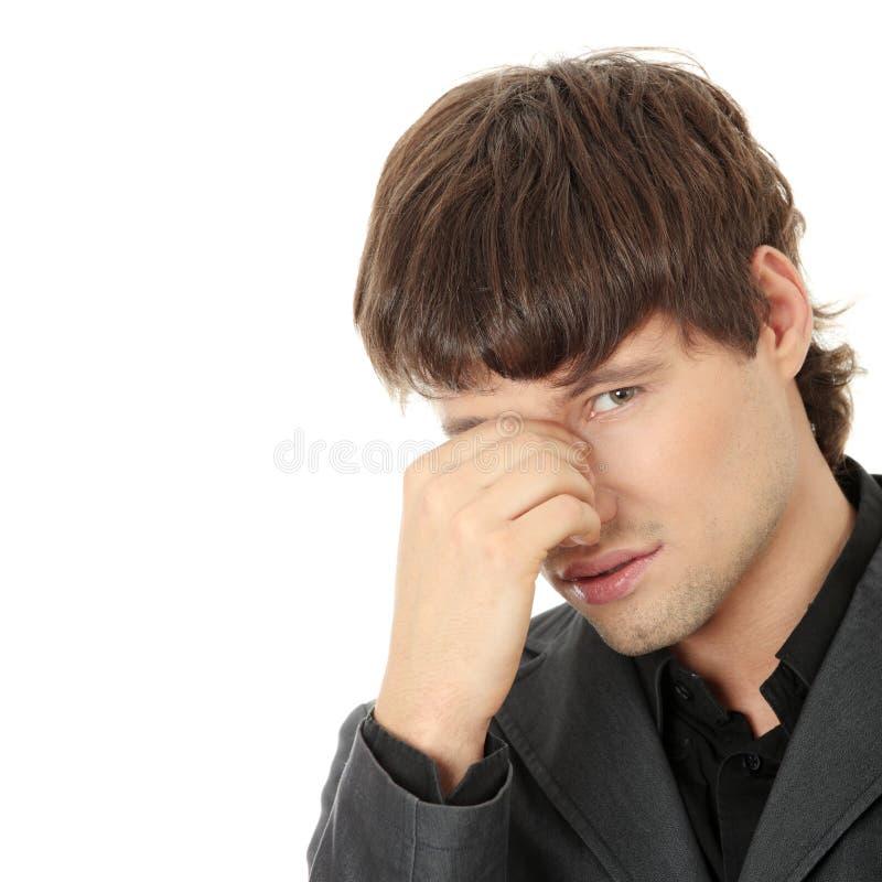 Kopfschmerzen oder Problem lizenzfreie stockfotos