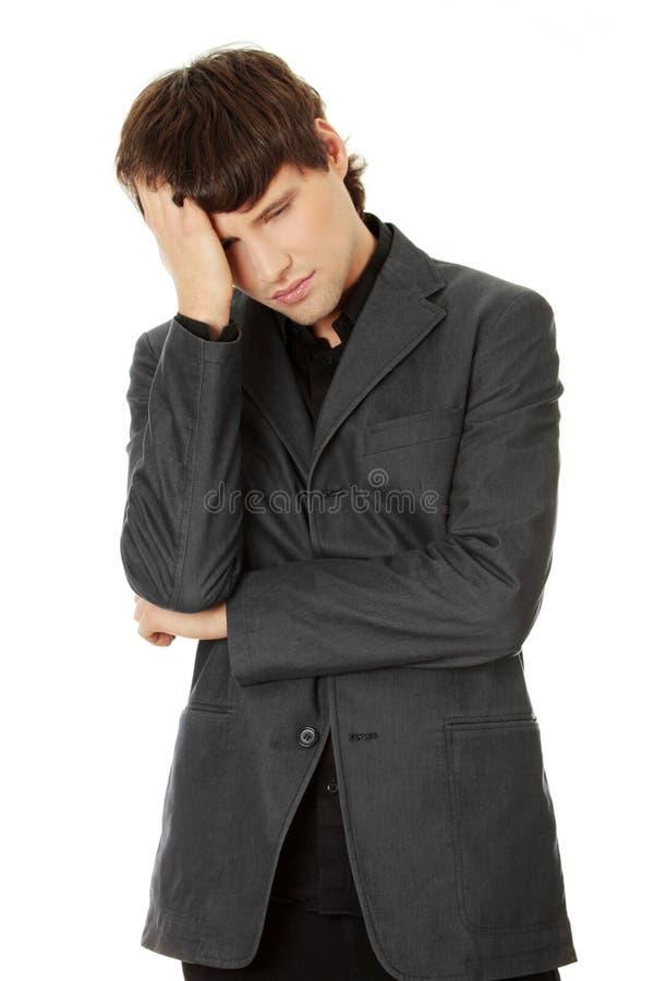 Kopfschmerzen oder Problem lizenzfreie stockbilder