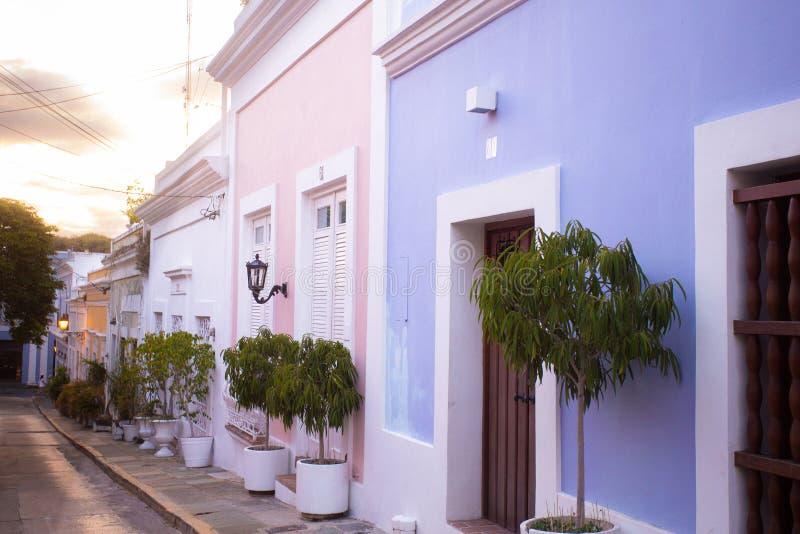 Kopfstein-Straße altes San Juan Puerto Rico stockfotos