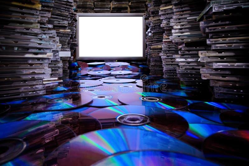 Kopiërende CD en dvd. stock foto's