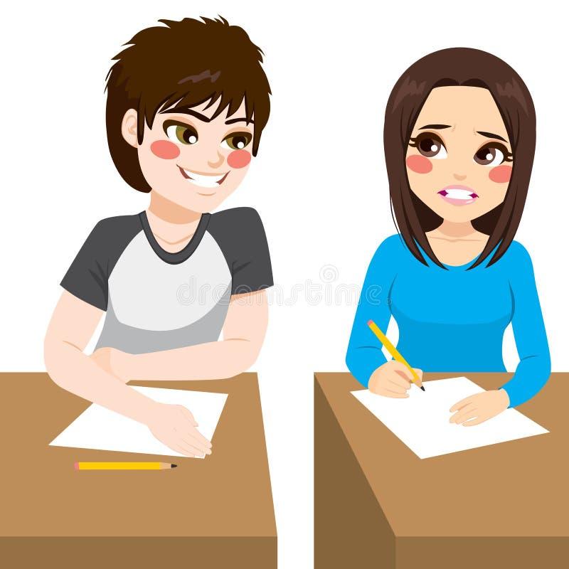 Kopiërende Examenjongen stock illustratie