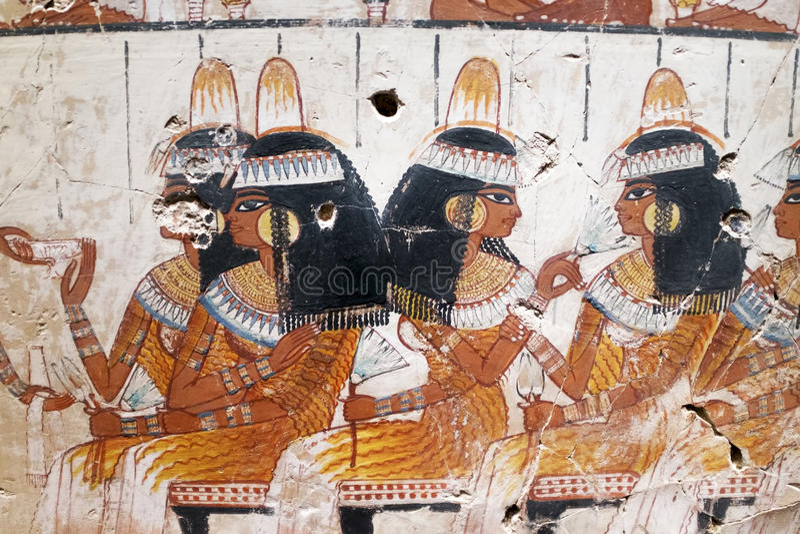 Kopia antyczna Egipska ilustracja i hieroglify obraz royalty free