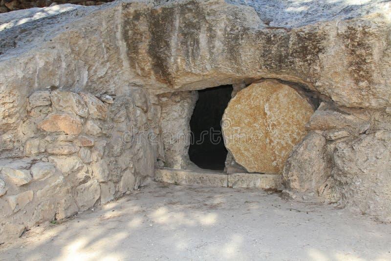 Kopia av gravvalvet av Jesus i Israel arkivfoto
