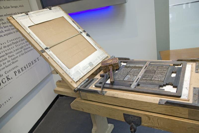 Kopia av printingpressen royaltyfri fotografi