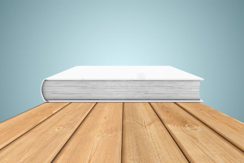 Kopia-bok på kanten av tabellen stock illustrationer
