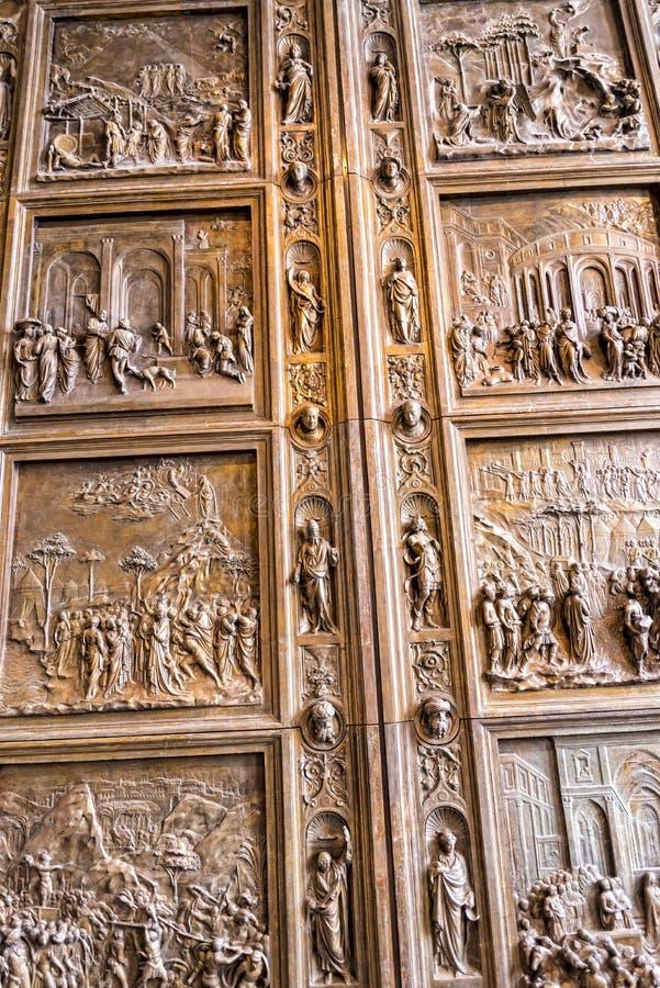 Kopia drzwi Baptistery w Florencja w muzeum w Berlińskim Niemcy fotografia stock