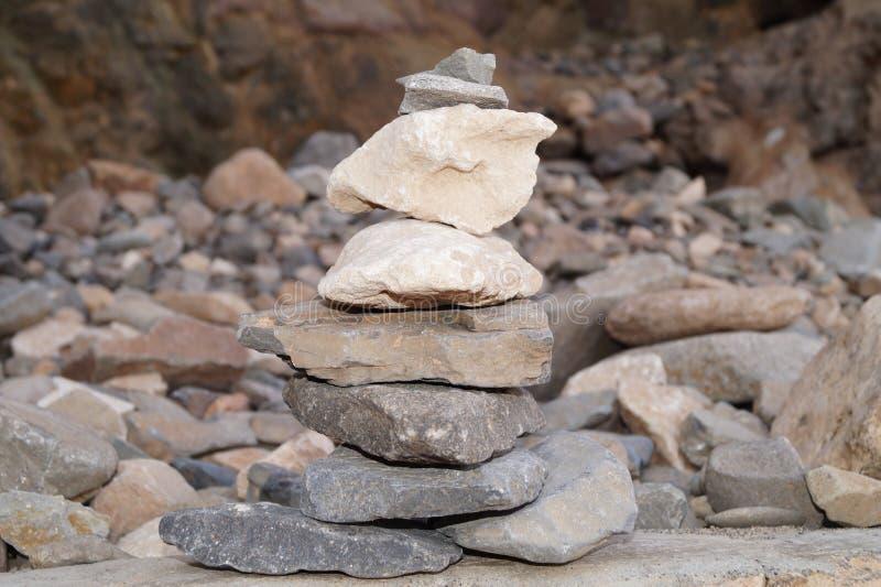 Kopiec - kopiec kamienie zdjęcie stock