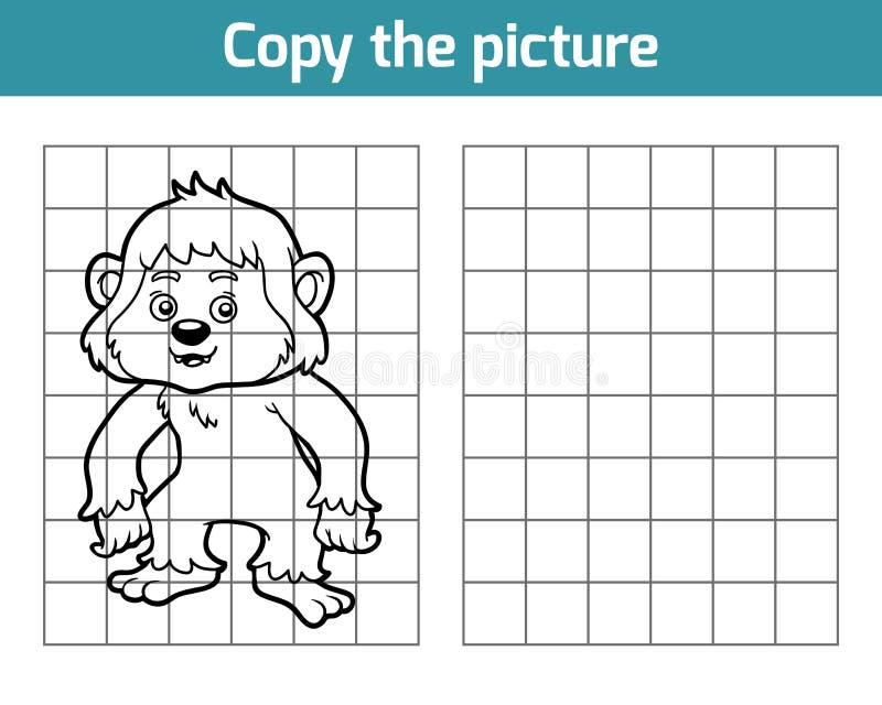 Kopieer het beeld, Yeti vector illustratie