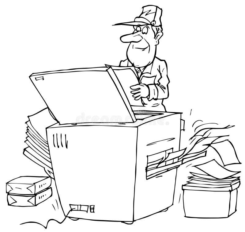 Kopieerapparaat vector illustratie