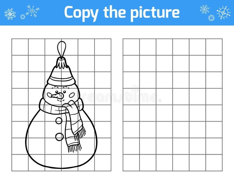 Kopiera bilden för barn Julleksaker, snögubbe vektor illustrationer
