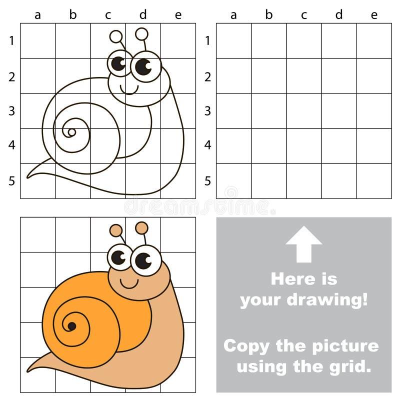 Kopiera bilden genom att använda raster gullig snail vektor illustrationer