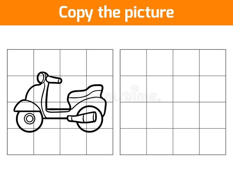Kopiera bilden, sparkcykel stock illustrationer