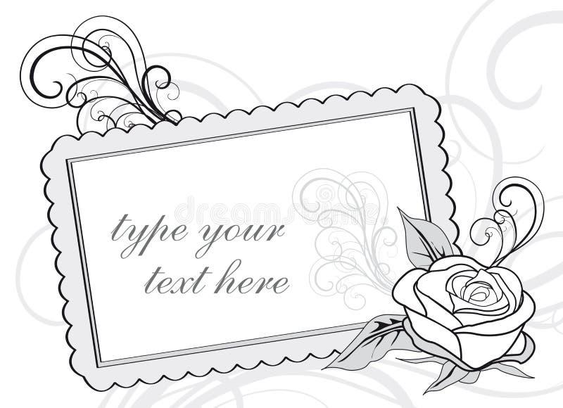 kopiera bröllop för designinbjudanavstånd royaltyfri illustrationer