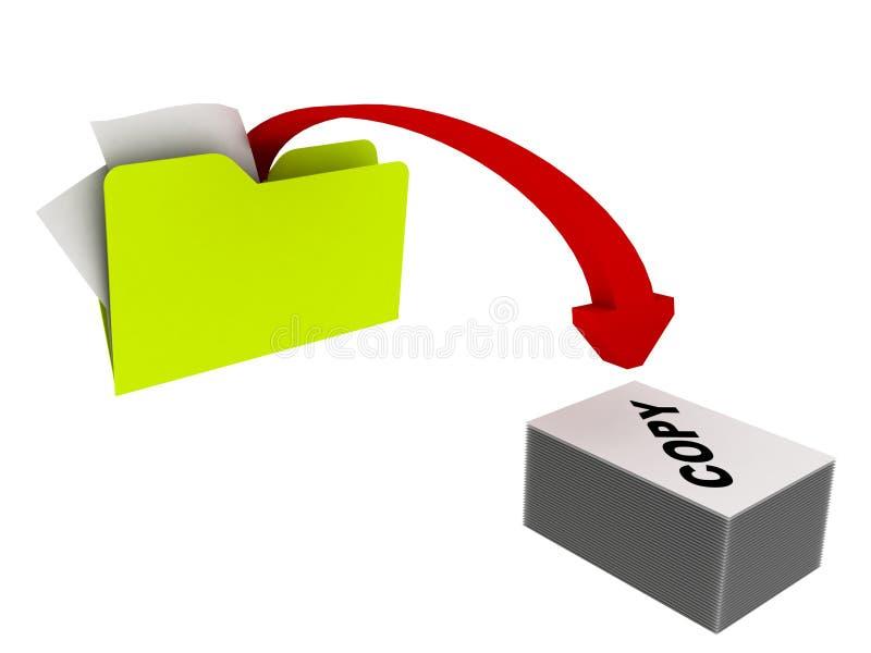 kopierande mapp stock illustrationer