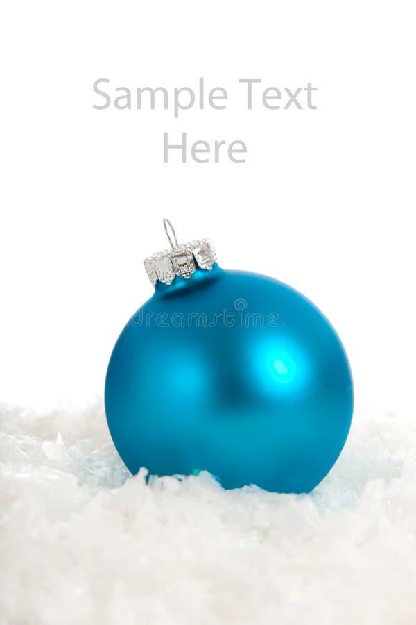 kopierar den blåa julen för bauble prydnadavstånd royaltyfri fotografi