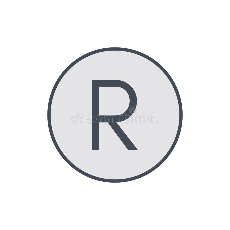 Kopieren Sie Beschränkungsrechtikone des Copyright Kennzeichen registred stock abbildung