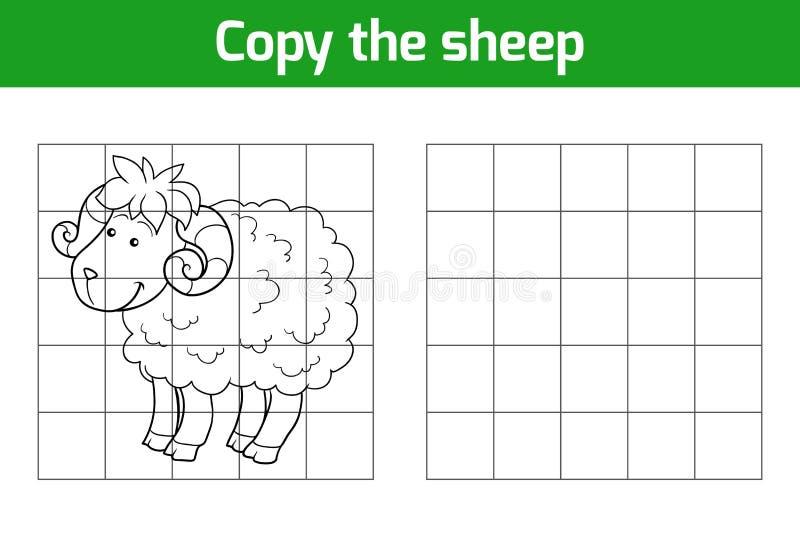 Kopieren Sie das Bild: Schafe vektor abbildung