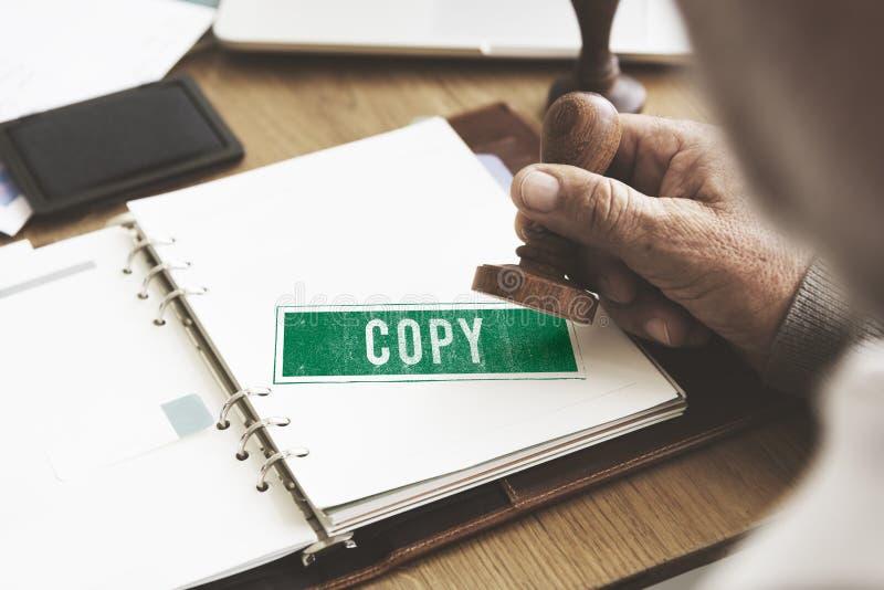 Kopieren Sie doppeltes Druck-Scan-Abschrift-Kontrollabschnitt-Konzept lizenzfreie stockbilder