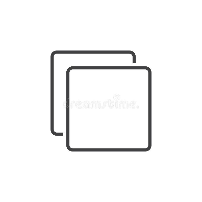 Download Kopieren Sie Linie Ikone, Klonentwurfs-Logoillustration, Lineares P Stock Abbildung - Illustration von linear, zeile: 90234660