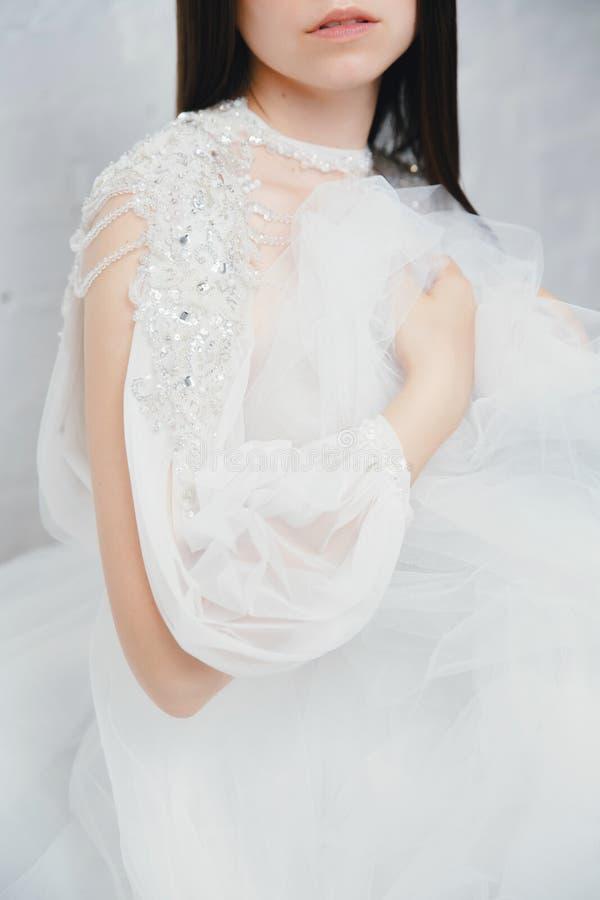 Kopieren Sie Raum Brautkleider stockfotografie