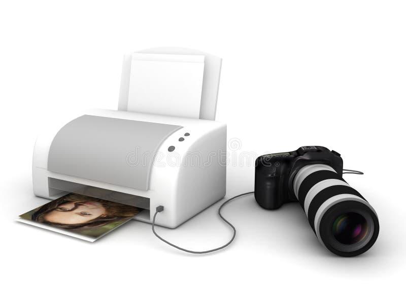 Kopieren Sie und drucken Sie von der Fotokamera stock abbildung