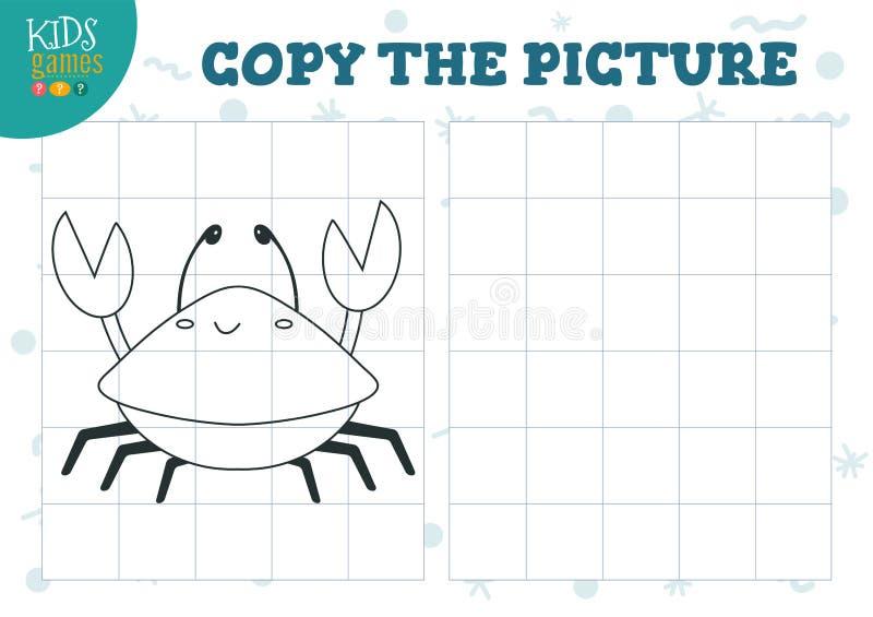 Kopieringsbild vid rastervektorillustrationen Bildande mini- lek, pussel f?r f?rskole- ungar stock illustrationer