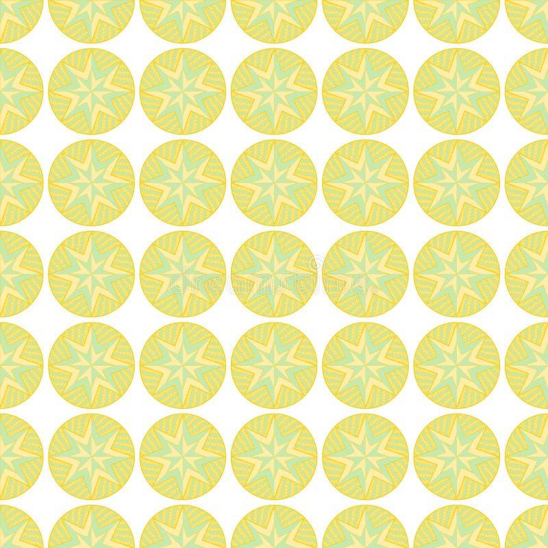 Kopierte Kreise in Grünem und in Orange in nahtlosem vektor abbildung