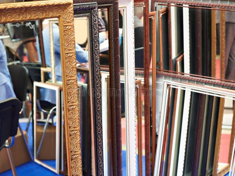 Kopierter Kunstrahmen für Spiegel lizenzfreie stockbilder