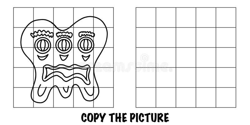 Kopiuj obraz Szalony obcy potwór z trzema oczami ilustracji