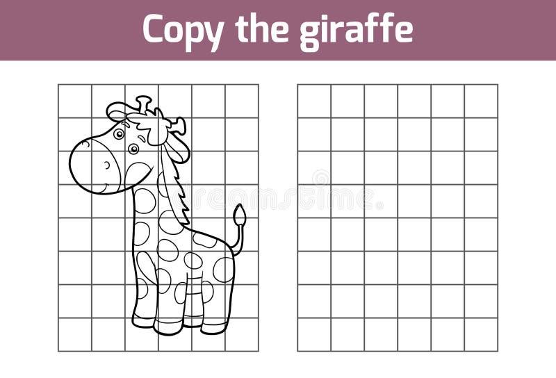 Kopiuje obrazek (żyrafa) royalty ilustracja