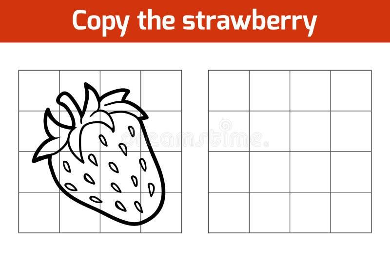 Kopiuje obrazek Owoc i warzywo, truskawka royalty ilustracja