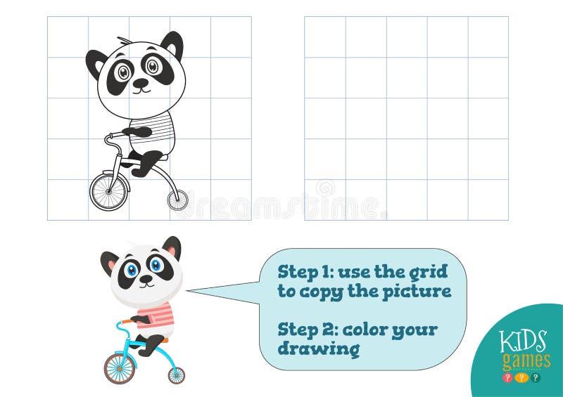 Kopiuje obrazek wektorową ilustrację i barwi, ćwiczenie ilustracja wektor