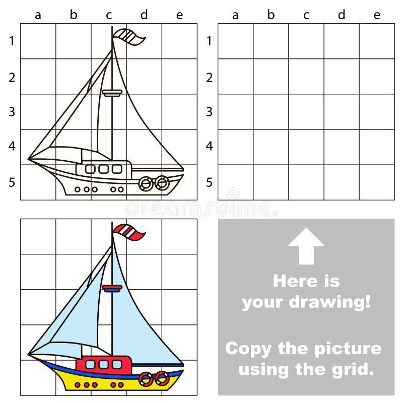 Kopiuje wizerunek używać siatkę Jacht ilustracja wektor